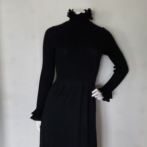 RONCELLI vintage black wool maxi dress